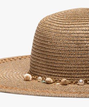 Chapeau femme forme capeline en paille et fil lurex vue2 - GEMO (ACCESS) - GEMO