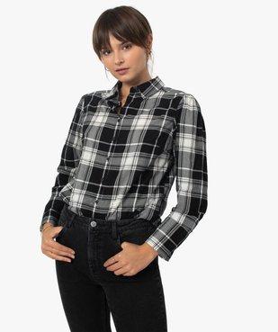 Chemise femme à carreaux 100% coton vue1 - GEMO(FEMME PAP) - GEMO