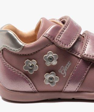 Chaussures bébé fille à scratch décor fleurs - Geox vue6 - GEOX - GEMO
