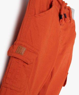 Pantalon bébé garçon coupe battle à revers et taille élastiquée vue2 - GEMO(BEBE DEBT) - GEMO