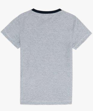 Tee-shirt garçon rayé avec motif sur l'avant vue2 - GEMO (ENFANT) - GEMO