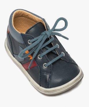 Chaussures premiers pas bébé garçon à lacets - Bopy vue5 - BOPY - GEMO