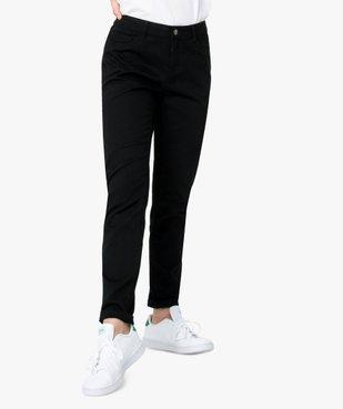 Pantalon femme en toile coupe slim 5 poches vue1 - GEMO (JEAN) - GEMO
