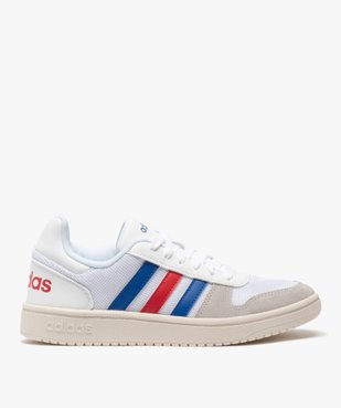 Tennis femme tricolores à lacets – Adidas Hoops 2.0 vue1 - ADIDAS - Nikesneakers