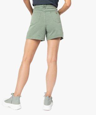 Short femme en toile de coton taille haute vue3 - GEMO(FEMME PAP) - GEMO