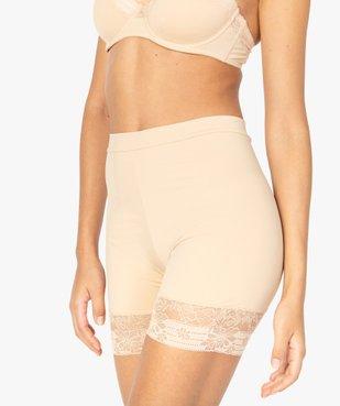 Panty femme gainant taille haute en microfibre et dentelle vue1 - GEMO(HOMWR FEM) - GEMO