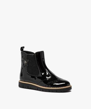 Boots fille chelsea vernies et zippées – LuluCastagnette vue2 - LULU CASTAGNETT - GEMO