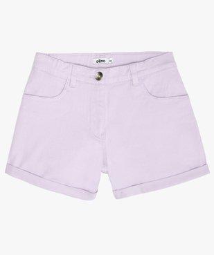 Short fille en coton extensible avec revers cousus vue1 - Nikesneakers (JUNIOR) - Nikesneakers