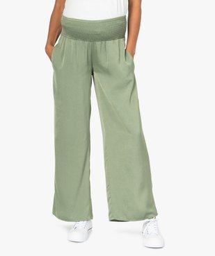 Pantalon de grossesse ample et fluide à taille smockée vue1 - GEMO (MATER) - GEMO