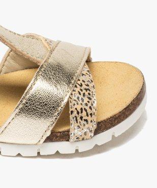 Sandales fille à semelle liège et brides métallisées vue6 - GEMO (ENFANT) - GEMO