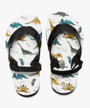 Tongs garçon imprimées dinosaures et brides élastiquées vue1 - Nikesneakers (ENFANT) - Nikesneakers