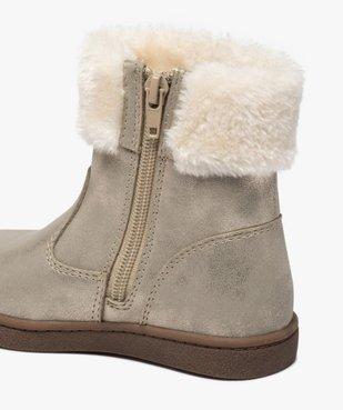 Boots fille à col rembourré en fourrure imitation vue6 - Nikesneakers (ENFANT) - Nikesneakers