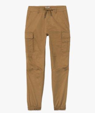 Pantalon homme cargo multipoche au coloris unique vue4 - Nikesneakers (HOMME) - Nikesneakers