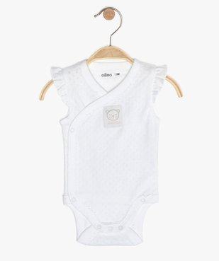 Body bébé fille sans manches fermeture croisée  vue1 - GEMO C4G BEBE - GEMO