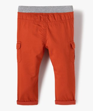 Pantalon bébé garçon coupe battle à revers et taille élastiquée vue3 - GEMO(BEBE DEBT) - GEMO