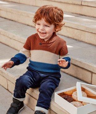 Pantalon bébé garçon en velours doublé jersey vue6 - GEMO(BEBE DEBT) - GEMO
