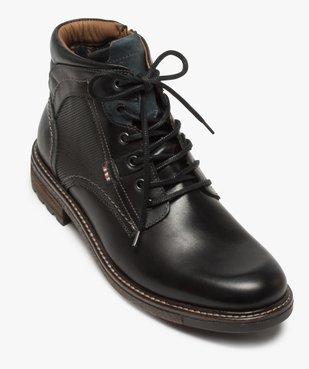 Boots homme zippés à lacets dessus cuir et col rembourré vue5 - Nikesneakers (CASUAL) - Nikesneakers