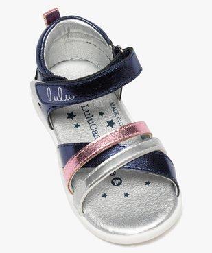 Sandales bébé fille métallisées à scratch - Lulu Castagnette  vue5 - LULU CASTAGNETT - GEMO