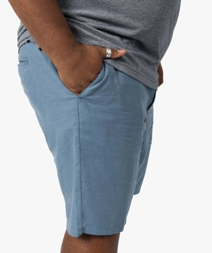 Bermuda homme coupe chino en lin/coton vue2 - GEMO (G TAILLE) - GEMO