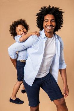 Bermuda homme en toile de coton épaisse coupe jean vue1 - GEMO (HOMME) - GEMO