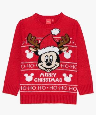 Pull de Noël garçon avec motif Mickey - Disney vue1 - MICKEY - GEMO