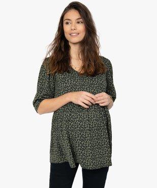 Tee-shirt de grossesse imprimé avec col en V vue1 - Nikesneakers (MATER) - Nikesneakers