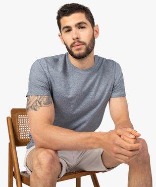 Tee-shirt homme à manches courtes et fines rayures vue1 - GEMO (HOMME) - GEMO