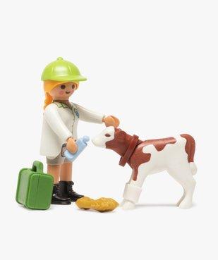 Jouet enfant vétérinaire et veau - Playmobil (13 pièces) vue2 - DIVERS LICENCE - GEMO