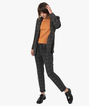 Pantalon femme en maille extensible imprimé vue5 - GEMO(FEMME PAP) - GEMO