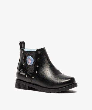Boots fille zippés détails cloutés – La Reine des Neiges vue2 - REINE DES NEIGE - GEMO