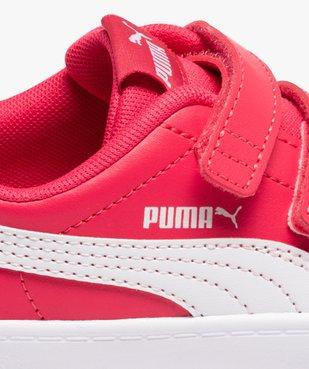 Tennis fille bicolores à scratch – Puma Courtflex vue6 - PUMA - Nikesneakers