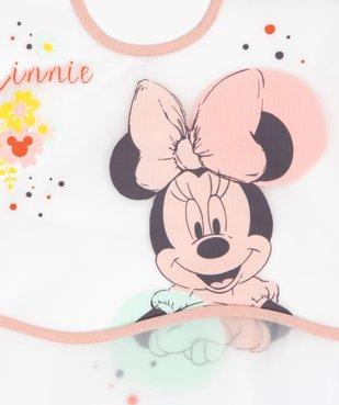 Bavoir bébé plastifié à poche imprimé Minnie - Disney vue2 - MINNIE - GEMO