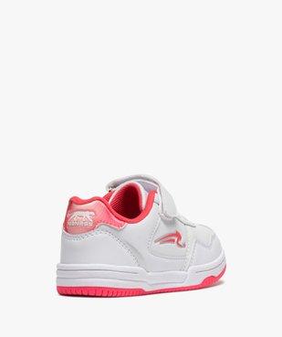 Baskets fille bicolores à lacets et scratch - Airness vue4 - AIRNESS - GEMO