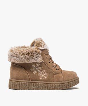 Boots fille zippées dessus suédine et col fourrure imitation  vue1 - Nikesneakers (ENFANT) - Nikesneakers