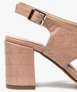 Sandales femme à talon et larges brides croisées vue6 - GEMO(URBAIN) - GEMO