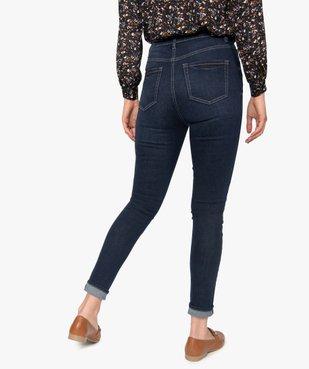 Jean femme skinny brut à taille haute et boutonnière vue3 - GEMO(FEMME PAP) - GEMO