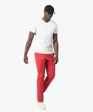 Pantalon chino homme en coton stretch vue5 - GEMO (HOMME) - GEMO