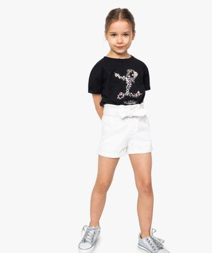 Tee-shirt fille avec motif scintillant – Lulu Castagnette vue5 - LULUCASTAGNETTE - GEMO