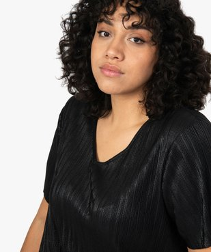 Tee-shirt femme grande taille plissé vue2 - Nikesneakers (G TAILLE) - Nikesneakers