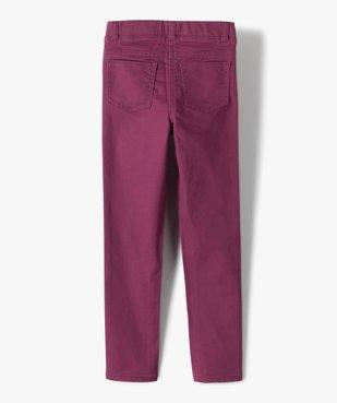 Pantalon fille skinny uni à taille élastiquée vue4 - Nikesneakers (ENFANT) - Nikesneakers