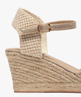 Sandales femme à talon compensé et bout fermé vue6 - GEMO(URBAIN) - GEMO