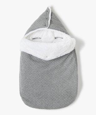 Nid d'ange avec doublure peluche spécial siège auto vue1 - GEMO(BB COUCHE) - GEMO