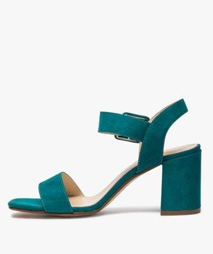 Sandales femme unies à talon carré et bride à boucle vue3 - GEMO(URBAIN) - GEMO