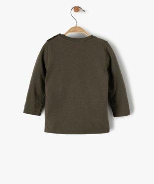 Tee-shirt bébé garçon imprimé fantaisie vue3 - GEMO(BEBE DEBT) - GEMO