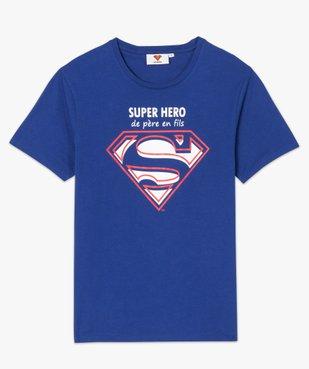 Tee-shirt homme avec motif et inscription - Superman vue4 - SUPERMAN - GEMO