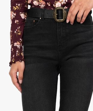 Jean femme en stretch coupe Skinny taille haute vue2 - Nikesneakers(FEMME PAP) - Nikesneakers