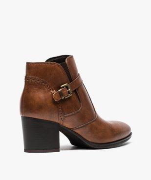 Boots pour femme avec bride et boucle métallique sur le côté vue4 - GEMO(URBAIN) - GEMO