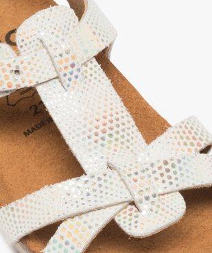 Sandales bébé fille avec motifs pailletés et semelle anatomique vue6 - GEMO(BEBE DEBT) - GEMO