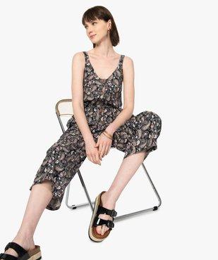 Combinaison pantalon femme imprimée en lin vue5 - GEMO(FEMME PAP) - GEMO