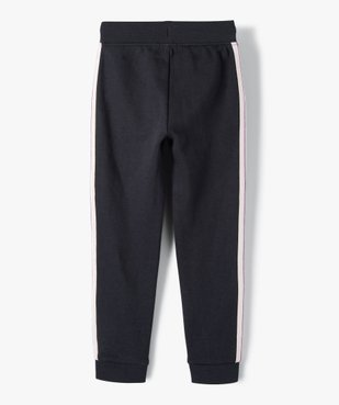 Pantalon de jogging fille avec bande pailletée sur les côtés vue4 - GEMO (ENFANT) - GEMO